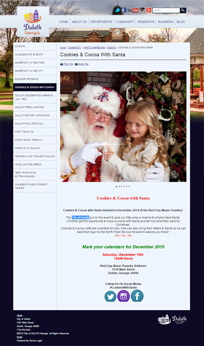 City of Duluth - Cookies & Cocoa with Santa